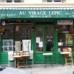Best restaurants in Paris Au Virage Lepic restaurant frontage