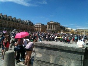 15th August 2015. These poor people didn't buy a Museum Pass so are queuing at Versailles !