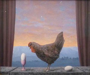 Magritte exhibition paris Variante de la Tristesse