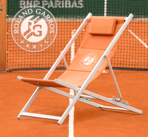 Buy your own deckchairs styled by the Roland Garros tennis tournament